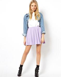 ASOS – lilac skater skirt