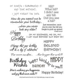"""My Sentiments Exactly Clear Stamps 6""""X8"""" Sheet-Birthday"""