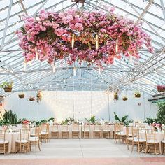 over the dance floor - chandeliers/flowers/candles for rest of ceiling
