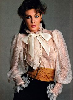 Best Fashion Look : Model: Kelly LeBrock. Photo by Francesco Scavullo for American Vogue, April… Model: Kelly LeBrock. Photo by Francesco Scavullo 80s Fashion, Fashion History, Vintage Fashion, Womens Fashion, Fashion Hair, Fashion Online, Francesco Scavullo, Moda Retro, Teased Hair
