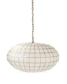 Capiz Globe Chandelier #serenaandlily
