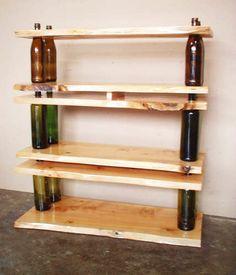 How to Make Glass Bottle Shelving