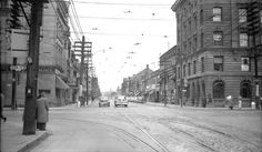 Taken one short year before the opening of the Yonge-University-Spadina subway line, this picture looks north along Yonge St. from Bloor St. West. James Victor Salmon took it in May, 1953: the day looks less warm than the weather we are currently experiencing, and the street looks much less congested.