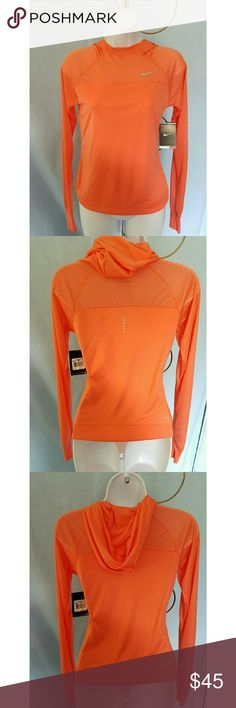 PLEASE SHARE DROP🚩GONE 10/3🚩NIKE DRI FIT HOODIE NIKE DRI FIT HOODIE RUNNING SHIRT This beautiful orange shirt will make your run pure joy! It has slots at the bottom of the sleeves for your thumbs. Nike Tops Sweatshirts & Hoodies