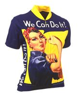 $74.90 Rosie the Riveter Short Sleeved Cycling Jersey