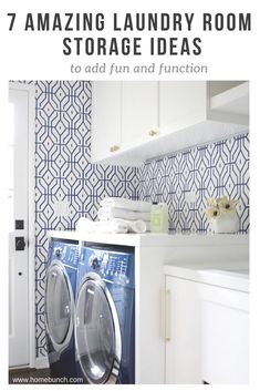 See How Creating 7 Distinct Laundry Room Storage Zones Can Make Laundry Day  Not Such A Pain. | Innovate Home Org Columbus Ohio | Amazing Interiors ...