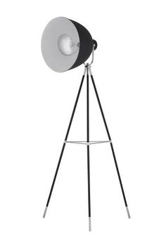 140-Buy Studio Black And Chrome Tripod Floor Lamp from the Next UK online shop