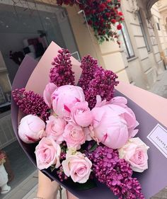 Image in Flowers 🥀💐 collection by on We Heart It flowers bouquets Image in Flowers 🥀💐 collection by on We Heart It Flower Box Gift, Flower Boxes, My Flower, Flowers Nature, Purple Flowers, Beautiful Flowers, Pink Purple, Beautiful Flower Arrangements, Floral Arrangements