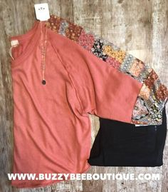 Beautiful Rust long sleeve top with a chiffon patterned sleeve. Paired with Wanna Betta Butt Black Denim and a grey druzy necklace. Fall Cardigan, Cardigan Outfits, Spring Outfits Women, Fall Outfits, Plus Size Dresses, Plus Size Outfits, Plus Size Womens Clothing, Clothes For Women, Duster Dress