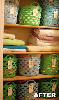 Baskets like those are VERY affordable! Great idea