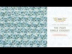 How To: Crochet The Picot Single Crochet - Easy Tutorial - Hopeful Honey
