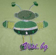 machine embroidery alien