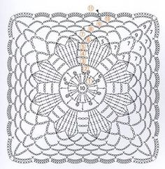 Four gorgeous lace flower motifs in squares for you to crochet! More Patterns Like This!