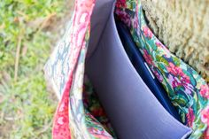 Add a laptop pocket to any tote bag pattern tutorial