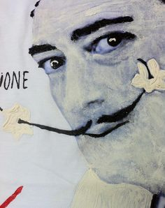 Salvador Dalì T shirt Wearable Art Dalì Painted tshirt by Quor – QuorArtisticTshirts