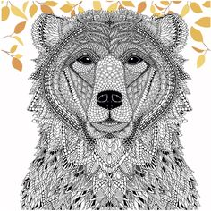 #Color a Bear from The Menagerie (Free Adult Coloring Page) - Craftfoxes