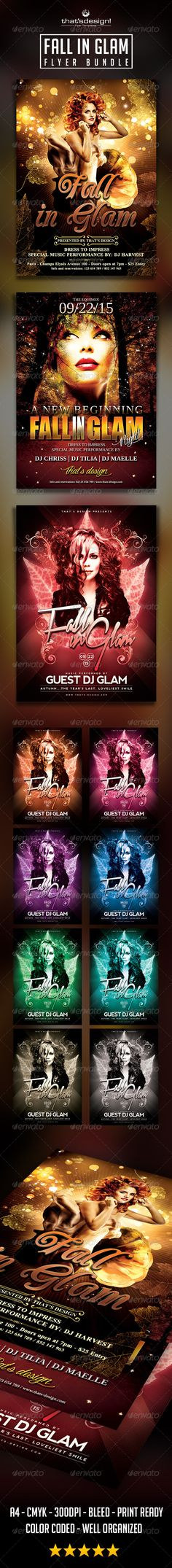Fall in Glam Flyer Bundle Template PSD   Buy and Download: http://graphicriver.net/item/fall-in-glam-flyer-bundle/8695557?WT.ac=category_thumb&WT.z_author=lou606&ref=ksioks