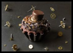 This is so cute!  Steampunk + Cupcake = Steamcup by CakeUpStudio.deviantart.com on @deviantART