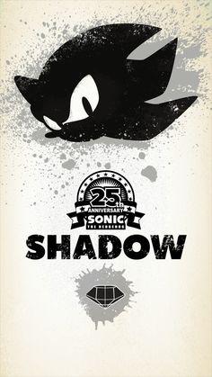 25th Anniversary Sonic the Hedgehog--Shadow wallpaper