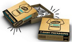 Cool and Creative T-shirt Packaging Designs Shirt Packaging, Cool Packaging, Packaging Design, Packaging Ideas, How To Attract Customers, Craft Business, Retro Design, Custom Boxes, Box Design