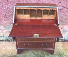 163...Vintage Inlaid Mahogany Bureau