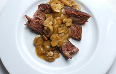 Belgian Pot Roast with Onions and Mushrooms