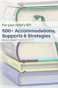 Preparing for an IEP meeting? Don't struggle for ideas, here you go. A printable list of up to 500 strategies, ideas and accommodations for an IEP. #specialneeds #specialneedschild #specialneedsparent #disability #IEPmeeting #DontIEPalone #sped #education #specialed