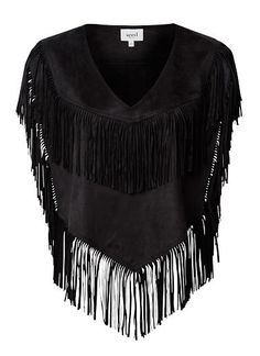 Womens Collection Tops Tees & Shirts| Collection Fringe Poncho | Seed Heritage