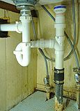 Remodeling Kitchen Sink Replacing Sink Drain Plumbing Bringing It Up To Code With Proper Venting Plumbing Drains, Bathroom Plumbing, Plumbing Pipe, Plumbing Fixtures, Bathroom Fixtures, Sink Drain, Sink Faucets, Toilet Drain, Tiny Bathrooms