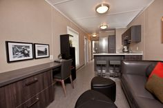 Here's luxury wellsite accommodation for the oil patch engineer - your own suite inside a shipping container with @BigSteelBox. Take the tour with Global Okanagan.