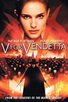 """My favorite movie and where I compared actress Natalie Portman with Hazel. """"You're like a millennial Natalie Portman. Like V for Vendetta Natalie Portman. V For Vendetta Poster, V For Vendetta 2005, V For Vendetta Movie, V Pour Vendetta, Vendetta Quotes, Hugo Weaving, Natalie Portman, Movie V, Action Movies"""