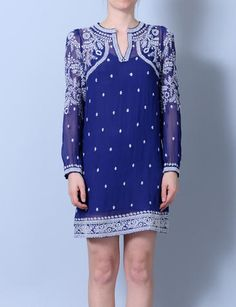 Isabel Marant lassie embroidered chiffon tunic dress at Bird : ShopBird.com