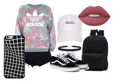 """""""1"""" by iluvpie1233 on Polyvore featuring adidas, Vans, Humble Chic and Lime Crime"""