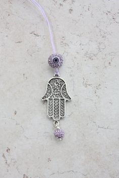 Car Accessories Silver Plated Rear View Mirror Hamsa by tipatmazal, $25.00