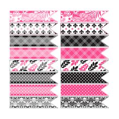 The Cottage Market: Free Hot Pink And Toile Digital Ribbons (The Gare House Collection)