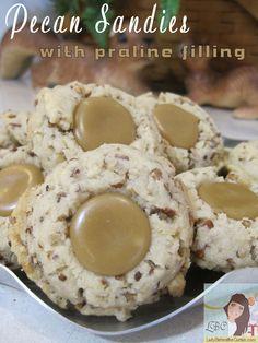 Pecan Sandies With Praline Filling