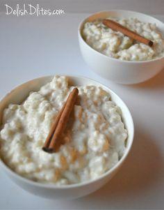 Cinnamon-Scented Arborio Rice Pudding   Delish D'Lites