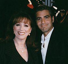 Jackie Collins and George Clooney