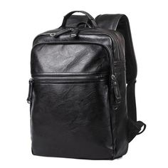 574c0fd6c8b0  EBay  2017 Men Leather Backpack High Quality Youth Travel Rucksack School  Book Bag Male