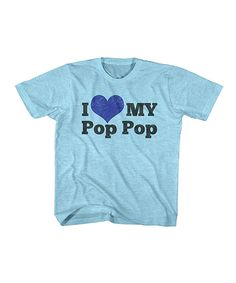 Look at this Turquoise Snow Heather 'I Love My Pop Pop' Tee - Kids on #zulily today!