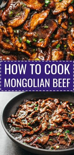 Best authentic easiest mongolian beef - Mongolian beef is an easy and fast 15-minute stir-fry recipe with tender flank steak beef slices and a bold sticky sauce with a hint of spiciness. It's served with steamed rice or noodles. #dinner #recipe #beef Just like PF Changs.