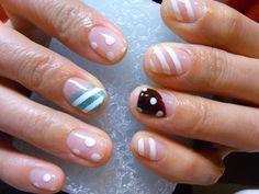 White nail art on natural nails - Nail Polish Colors and Ideas - #nails #beauty