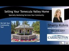 http://ift.tt/2d57Sgk Find The Best Agents and Realtors in Temecula Give Sherry a call today at 951-315-3201 Top Producer Real Estate Agent Sherry Kotvis located in Temecula  CA 92591  92592 and has been successfully been helping homeowners and buyers reach their real estate goals. Unsurpassed marketing expertise  expert negotiation skills and communication with the clients every step of the way make Sherry Kotvis and her team the obvious and perfect choice. Sherry and her team have closed…