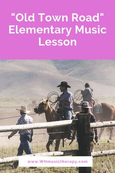 """""""Old Town Road"""" Elementary Music Lesson Here's how you can use """"Old Town Road"""" by Billy Ray Cyrus and Lil Nas X to work on therapeutic goals in music therapy or the music classroom. Music Education Games, Music Activities, Music Games, Physical Education, Preschool Music, Health Education, Elementary Music Lessons, Elementary Schools, Guitar Songs For Beginners"""