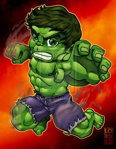 Speed Vector - Lil Hulk by lordmesa.deviantart.com