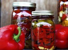 For the best #seasonal #recipes ... Still many good #vegetables from #garden and many #delicacies !!!! #Peppers in #oil