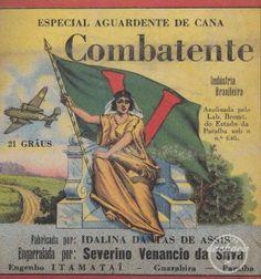 Aguardente de cana Combatente    Cachaça label.Brazil