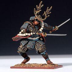 Honda Tadakatsu Holding Two Swords