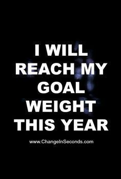 If you want to succeed at losing weight you need to have a weight loss goal!