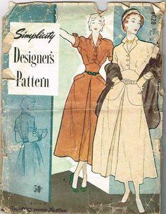 Simplicity Designer's Pattern 8020 (1949)